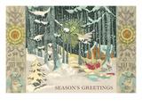 Winter Scene in Woods Prints