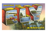 Greetings from Ely, Minnesota Print