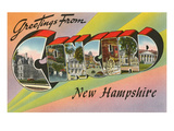 Greetings from Concord, New Hampshire Posters
