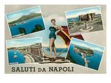 Saluti Da Napoli, Italy Posters