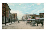 Early Downtown Council Bluffs, Iowa Poster