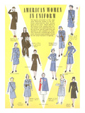 American Women in Uniform Prints