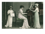 Young Girl Music Recital Print