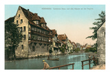Old Houses on Pegnitz River,Nuremberg, Germany Posters
