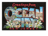 Greetings from Ocean City, New Jersey Print