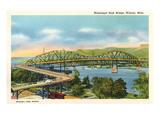 Mississippi High Bridge, Winona, Minneapolis Posters