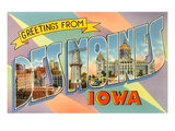 Greetings from Des Moines, Iowa Poster