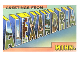 Greetings from Alexaaandria, Minnesota Print