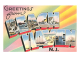 Greetings from Beach Haven, New Jersey Poster