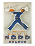 Restaurant Du Nord. Geneve, Switzerland Prints