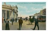Early Downtown Brisbane, Queensland, Australia Prints