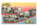 Greetings from Lake Sunapee, New Hampshire Print