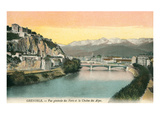 Grenoble, France, with View of Alps Prints