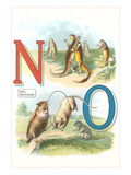 Alphabet Animals, N and O Prints