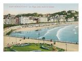 Beach, San Sebastian, Spain Posters