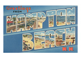 Greetings from Hampton Beach, New Hampsshire Poster