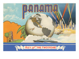 Panama, Key of Two Oceans Posters