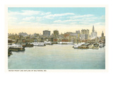 Baltimore Skyline and Waterfront, Baltimore, Maryland Prints