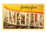 Greetings from Davenport, Iowa Prints