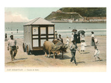 Bathing Machine, San Sebastian, Spain Prints