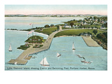 Little Diamond Island, Portland Harbor, Maine Posters