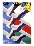 San Sebastian Rowing Regatta Poster Art