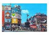 Piccadilly Circus, London, England - Art Print