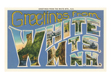 Greetings from White Mountains, New Hampshire Print