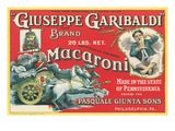 Giuseppe Garibaldi Macaroni Label Plakater