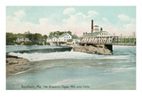 Bowdoin Paper Mill, Topsham, Maine Posters