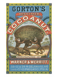 Gorton's Desicated Coconut Label, Monkeys Art