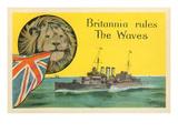 Britannia Rules the Waves, Battleship Poster
