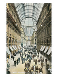 Vintage View of Milan Galleria, Italy Posters