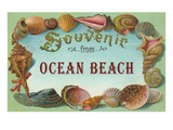 Souvenir from Ocean Beach, New Jersey Poster