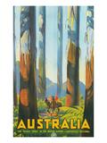 Australia Travel Poster, Gum Trees Umění