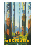 Australia Travel Poster, Gum Trees Prints