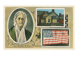 Barbara Fritchie Flag, Portrait and House Prints