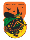 Witch on Broom Posters
