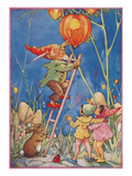 Elf Lighting Chinese Lantern Print