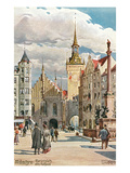 Old Town Hall, Marienplatz, Munich, Germany Print