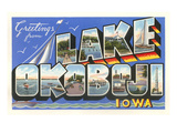 Greetings from Lake Okoboji, Iowa Posters
