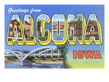 Greetings from Algona, Iowa Posters