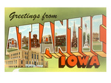 Greetings from Atlantic, Iowa Posters