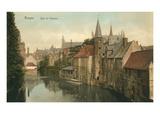 Quai Du Rosaire, Bruges, Belgium Prints