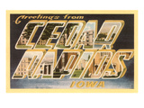 Greetings from Cedar Rapids, Iowa Prints