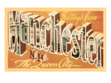 Greetings from Manchester, New Hampshire Poster