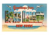 Souvenirs de Long Island, New York Affiches