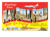 Greetings from Macdill Field, Florida Poster