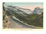 Going to the Sun Highway, Glacier Park, Montana Poster