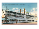 Mississippi Riverboat Excursion, Davenport Prints